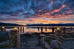 Outdoor Seating, Shore Lodge, McCall, Idaho