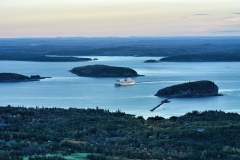 Bar Harbor from Acadia National Park